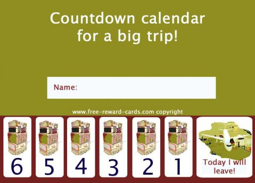 photograph regarding Countdown Calendar Printable titled Totally free countdown calendars - Internet