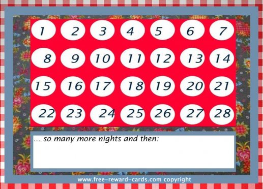 picture relating to Printable Countdown Chart named Cost-free countdown calendars - Web