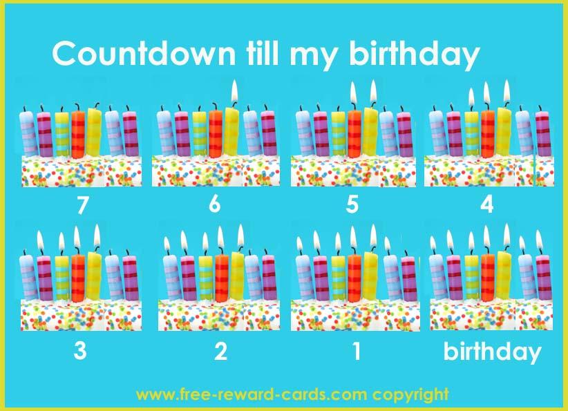 Birthday Countdown Calendar Template | Calendar Template 2016