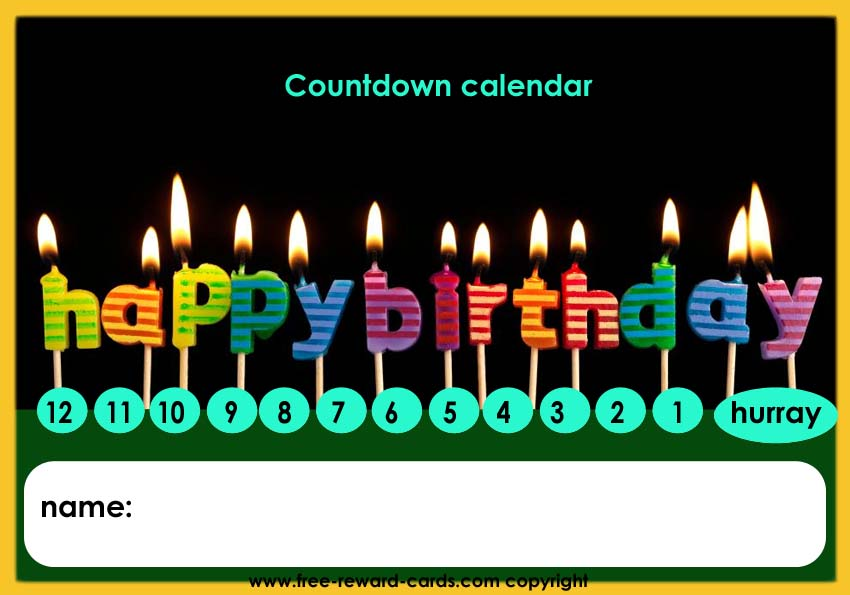 Kids Countdown Calendar : Birthday countdown calendar website