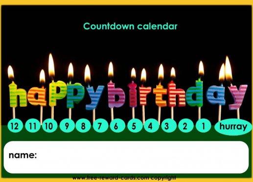Kids Birthday Calendar : Free countdown calendars website