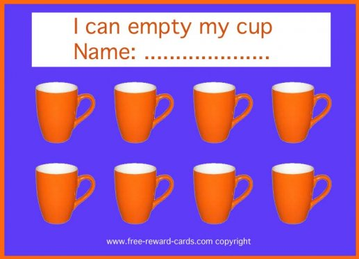 reward card empty drink cup