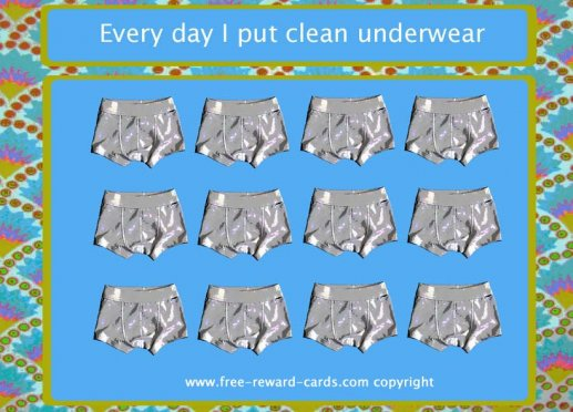 reward card put clean underwear