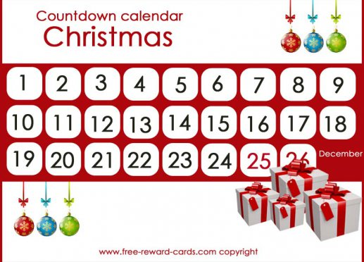 photograph about Printable Countdown Chart named Free of charge countdown calendars - World-wide-web