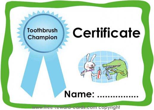 Certificate toothbrushing - Website