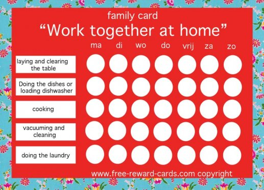 Family Reward Card household