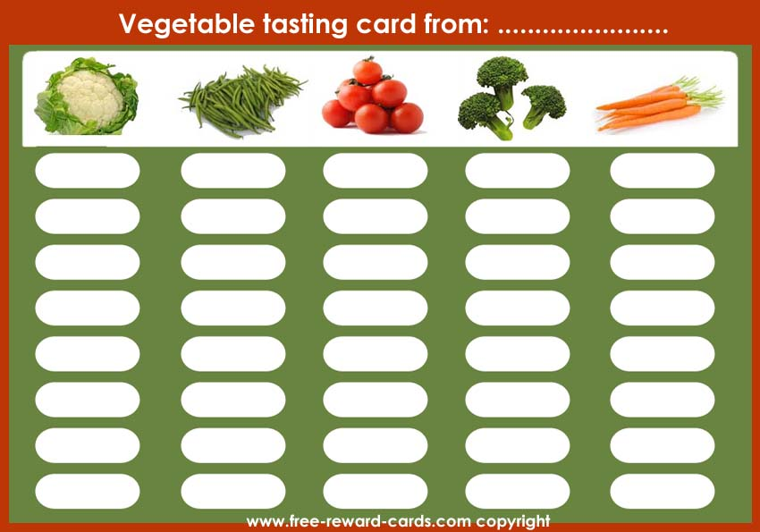 reward card tasting vegetables