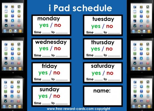 ipad schedule for kids