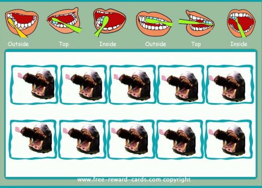 reward card brushing teeth 1