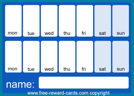 Countdown calendar two weeks blue