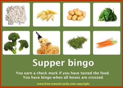 Reward card, supper bingo